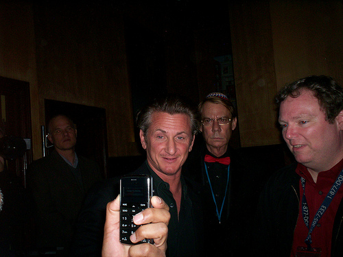 .Sean Penn posing for Mr. X while